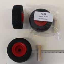 Rad komplett 62 mm